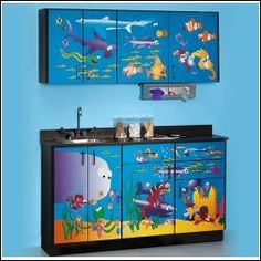 Clinton 6136 Pediatric Exam Room Cabinets, Ocean CommotionBase Cabinet Dimensions: 61 x 18 x 35 in (154.94 x 45.72 x 88.9 cm) LxDxH Wall Cabinet Dimensions: 61 x 12 x 24 in (154.94 x 30.48 x 60.96 cm) LxDxH