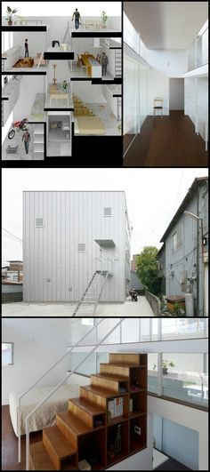 "Have you ever looked at a home and thought ""That's odd!"" but then looked again and realised it makes a lot of sense? That was our reaction to this home by Kazuyasu Kochi.  It DOES make sense when you see all 25 images, plans and the architect's notes on our site!  We'll leave it to the architect, Kazuyasu Kochi, to explain the rationale…"