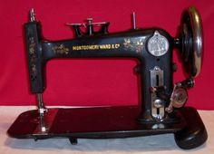 National Vibrating Shuttle treadle machine (head only) sold by Montgomery Ward name.