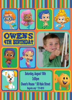 bubble guppies invitation.