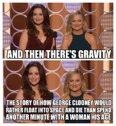 The story of 'Gravity' according to Tina Fey and Amy Poehler