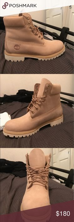 Timberland boot creme size 9 mens 9/10 condition Timberland Shoes Boots