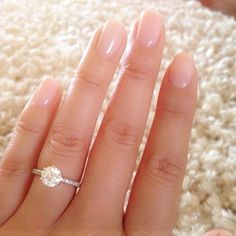 The perfect manicure to fit this early summer weather along with the perfect solitaire from @James Allen Rings. <3