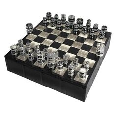the best attitude 832b0 9810b A contemporary presentation in exotic Water Snake. Showcasing this award  winning contemporary chess set to