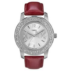 Ladies' Timex® Crystal Accent Watch (Model: T2P399ZA)  - I am in love with the red!!