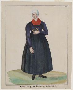 vrouw in dracht, Putten 1856.