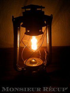 lampe tempete | ai tout simplement passé un vieux fil électrique