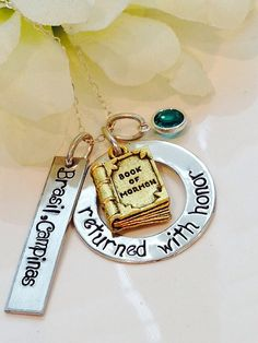 Returned with Honor Book of Mormon Customized Necklace