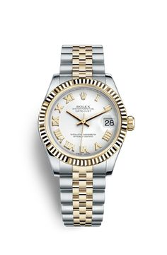 Rolex Datejust 31 Watch: Yellow Rolesor - combination of steel and 18 ct yellow gold - 178273 Lux Watches, Stylish Watches, Luxury Watches For Men, Rolex Bracelet, Bracelet Watch, Rolex Datejust, Rolex Women, Rolex Models, Ring Watch