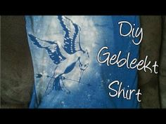 ▶ Diy Gebleekt Shirt, Zelf een stoer shirt maken! - YouTube