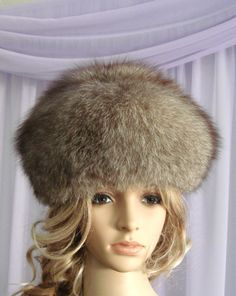 GORGEOUS Ladies Fox Hat. REAL fur. Great gift. by BoutiqueEllana