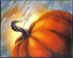 The Great Pumpkin original acrylic still life gallery style canvas painting