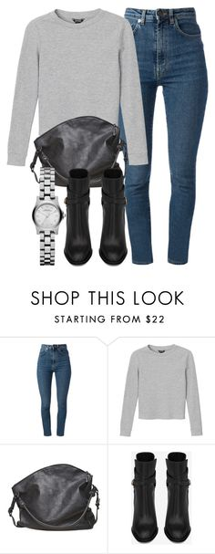 """""""Untitled #5044"""" by laurenmboot ❤ liked on Polyvore featuring Yves Saint Laurent, Monki, Marsèll and Marc by Marc Jacobs"""