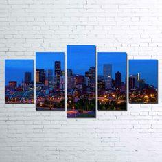 Denver Skyline 5 Piece Canvas Set – Paragon Apparel