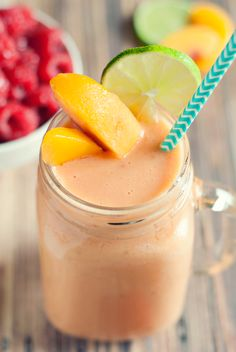 Like an orange julius, only better, this easy peach raspberry smoothie will have you loving the smoothie life for sure! Try it today and drink it for life!