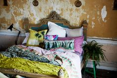 ATELIER RUE VERTE le blog, great color combo for the bed