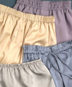 Who says an elastic waistband cant be stylish? Designer waistbands (from top) by Junichi Arai, Peter Cohen, Anne Klein II, and Andra Gabrielle combine looks with comfort.