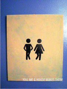 DIY Bathroom Art- Wee Wee Dance.
