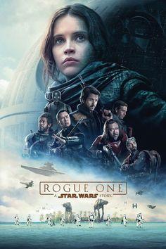 Rogue one : A star wars story (USA) min) - Réalisé par Gareth Edwards - Felicity Jones, Diego Luna, Forest Whitaker Star Wars Poster, Star Wars Film, Star Wars Art, Star Trek, Poster Poster, Poster Ideas, Canvas Poster, Print Poster, Poster Wall