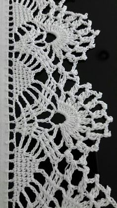 Crochet Borders, Crochet Stitches, Crochet Patterns, Love Crochet, Crochet Lace, Lace Making, Chrochet, Lily, Knitting