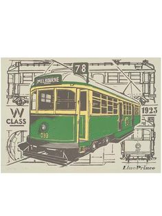 W Class Tram Print - Melbournalia - Local Goods and Souvenirs from Melbourne