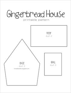 Gingerbread Recipe Printable House Template you can find a simple template to cut with a knife and a ruler here Here are the templates I made Theres two Gingerbread House Template Printable, Gingerbread House Patterns, Cool Gingerbread Houses, Gingerbread House Parties, Christmas Gingerbread House, Christmas Houses, Cardboard Gingerbread House, Cardboard Houses, Clay Houses