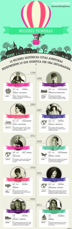 10 mujeres pioneras #infografia