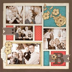5 or more photos scrapbook layout