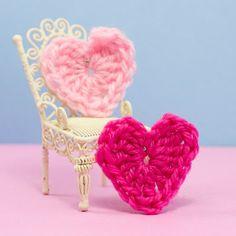 Easy Heart Crochet Pattern via Hopeful Honey
