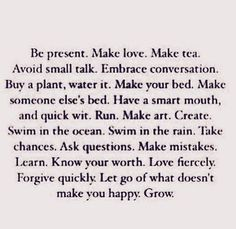let go of what doesn't make you happy.