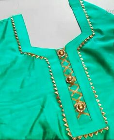 Got Patti neck design with Champa lace Chudidhar Neck Designs, Salwar Neck Designs, Kurta Neck Design, Saree Blouse Neck Designs, Neck Designs For Suits, Sleeves Designs For Dresses, Neckline Designs, Kurta Designs Women, Dress Neck Designs