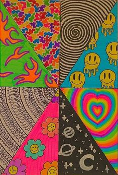 Remiity's Art is creating Digital art. | Patreon Indie Drawings, Psychedelic Drawings, Cool Art Drawings, Cute Canvas Paintings, Small Canvas Art, Mini Canvas Art, Arte Indie, Indie Art, Images Hippie
