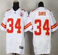 Nike Kansas City Chiefs Jersey 34 Knile Davis White Elite Jerseys