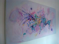 Abstract Flower Painting Large Canvas Wall art by MhariArtStudio