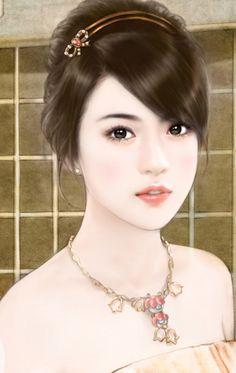 Art of beauty Beautiful Chinese Girl, Beautiful Anime Girl, Deviant Art, Chinese Drawings, Anime Drawing Styles, Art Of Beauty, Beauty Women, Lovely Girl Image, Cute Cartoon Girl