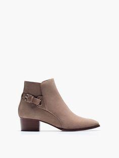 BOTÍN SERRAJE HEBILLA - Botines - Zapatos - WOMEN - España Rebajas Verano dfed35f9f74