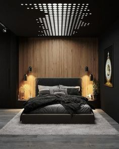 Luxury Small Bedroom Design And Decorating For Comfortable Sleep Ideas « Black Bedroom Design, Master Bedroom Interior, Room Design Bedroom, Luxury Bedroom Design, Home Room Design, Dream Home Design, Home Interior Design, Modern Luxury Bedroom, Bedroom Black