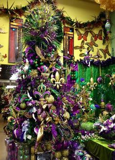 Mardi Gras. Arcadia Floral & Home Decor Showroom.