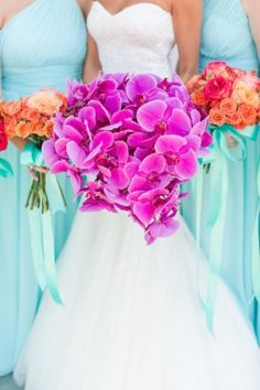 pink orchid bride bouquet from Virginia Wedding Salamander Resort by Katelyn James Photography