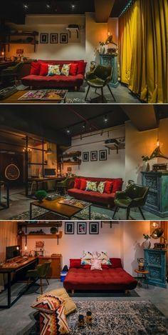 35 Ideas Photography Studio Interior Design For 2019 Home Theater Room Design, Home Theater Rooms, Studio Interior, Interior Design, Bali Style Home, Studio Floor Plans, Goth Home Decor, Studio Apartment, Home Office