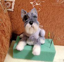 "Schnauzer ""felt a dog"" photo tutorial by ingreen aka Inna Zelentsova."