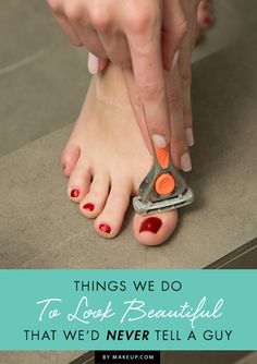 All women have a few unconventional beauty secrets. Who's guilty of these embarrassing, but oh-so necessary beauty tricks? All Things Beauty, Beauty Make Up, Beauty Care, Diy Beauty, Girly Things, Beauty Hacks, Crazy Things, Beauty Ideas, Ideias Diy