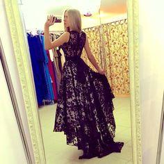 42.22 USD Prom dress,black lace formal dress,sleeveless party dress,cheap