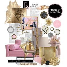 """""""Project Decorate: Edgy Glamour with Bijou and Boheme"""" by pisces7 on Polyvore"""