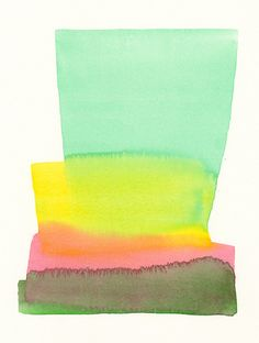 original, abstract watercolor painting, gold, pink and green combination | maslissas place etsy