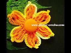 Flores  Em Crochê 006 - Flor Em Correntes 1