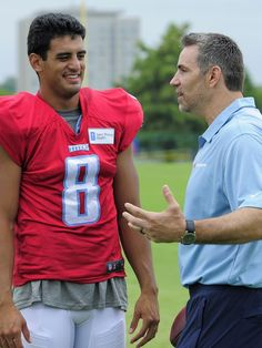 Kurt Warner with Marcus Mariota