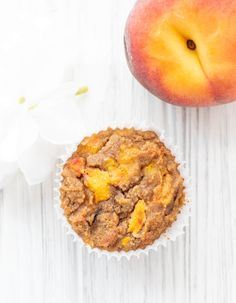 These gluten-free Peach Vanilla Muffins are an amazing way to use up those fresh peaches! They are easy to prepare, and make for a lower sugar, nutrient-packed snack or treat! {Gluten-free, paleo, & no refined sugar}        I always get so excited when peach season rolls around. There's nothing better than biting into a fresh … My Favorite Food, Favorite Recipes, Peach Muffins, Gluten Free Peach, Peach Syrup, Peach Cake, Baking Cups, Gluten Free Baking, Low Sugar