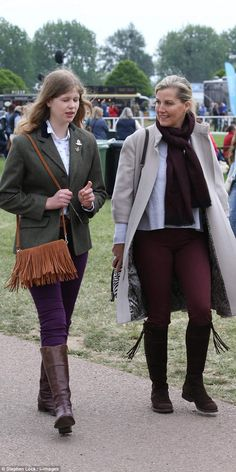 Lady Louise Windsor, Sophie's daughter with Prince Edward, was born with a severe squint that affected her vision. Pictured: the pair together yesterday at The Royal Windsor Horse show at Windsor castle Casa Real, Duchess Kate, Duchess Of Cambridge, Sophie Rhys Jones, Countess Wessex, Louise Mountbatten, Viscount Severn, Lady Louise Windsor, British Royal Families