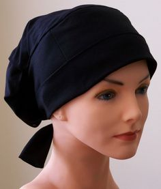 Inspiration: Large Womens Perfect Fit Tie Back with FABRIC TIES - Black  A little funky looking but we'll see...
